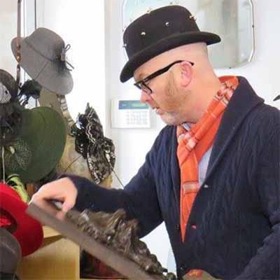Drew Pritchard at hat factory