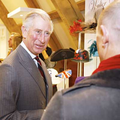 Prince Charles visits the  Walter Wright hat factory