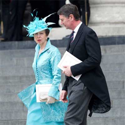 Princess Anne wears a hat designed by Philip Wright of Walter Wright Hats